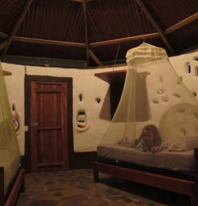 Inside our Yurt at Finca Mystica