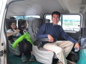 Everyone was happy with the transport that the kids and I had secured.
